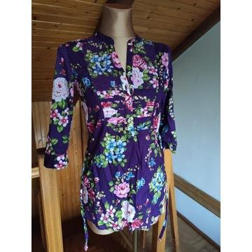 Koszula tunika w kwiaty roz. 34 XS