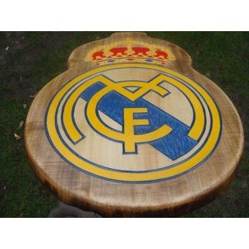 Real Madryt Ręcznie rzeźbione logo z drewna
