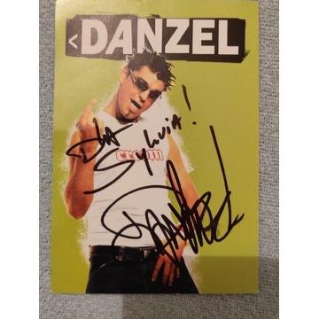 Pocztówka z autografem Danzel autograf koncert