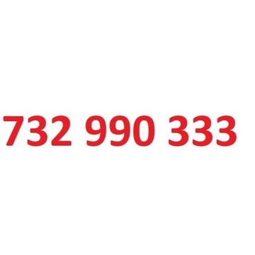 732 990 333 starter play ładny złoty numer