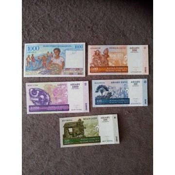 Banknoty Madagaskar