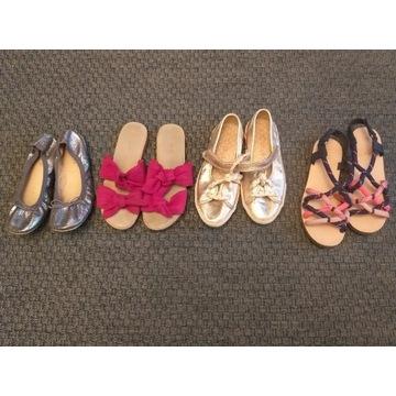 Zara 4 pary 33 sandałki balerinki trampki klapki