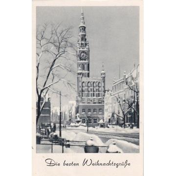 Pocztówka - Gdańsk (Danzig) - Rathaus Weihnachten