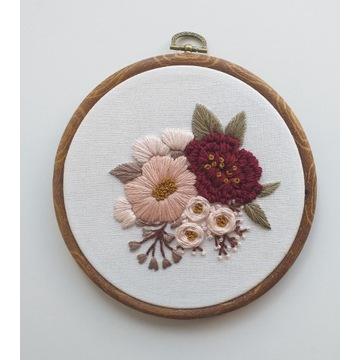 HAFT  - tamborek obraz kwiaty