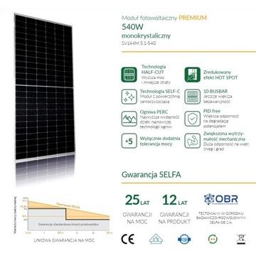 Panel słoneczny PV 540Wp Selfa SV144M.5.1-540