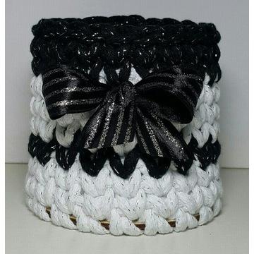 Pojemniczki ze sznurka bawełnianego