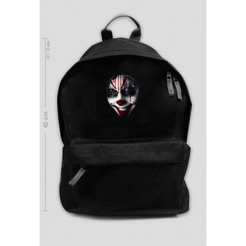 Plecak szkolny duży straszny Klown