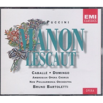 PUCCINI Manon Lescaut Caballe, Domingo EMI 2CD