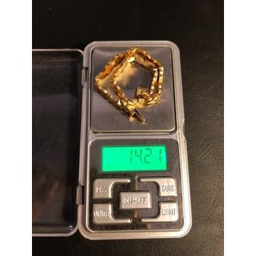 Piękna złota bransoletka (750) 14,21 grama