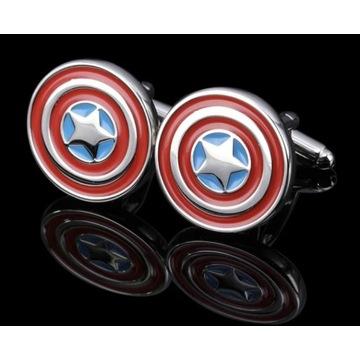 Spinki do mankietów Kapitan Ameryka Superbohater