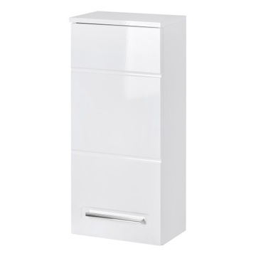 ACTIVE 830 - Szafka wisząca35 1D-Biały/Biały Połys