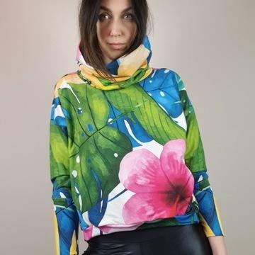 Bluza fitness, sportowa, streetwear, kolorowa S/M