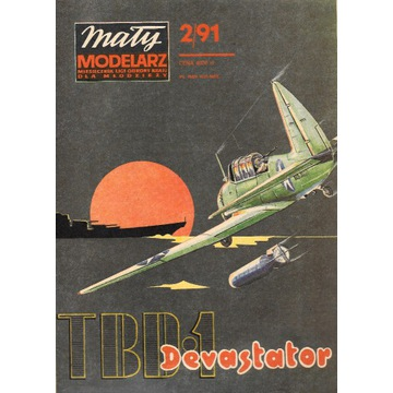Mały Modelarz 2 1991 Dewastator samolot model 1:33