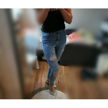 Spodnie rurki jeansy laulia 36 S dziury