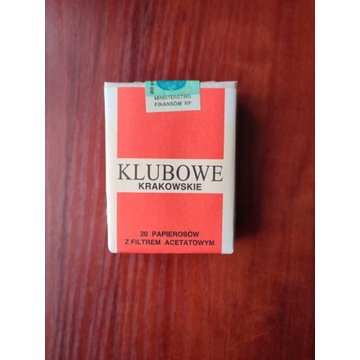 Papierosy kolekcjonerskie KLUBOWE KRAKOWSKIE 1994