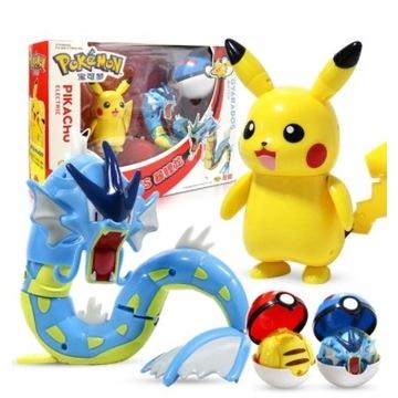 2 Figurki POKEMON Pikachu i Gyarados + Pokeball x2