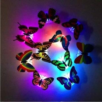 Świecące motylki