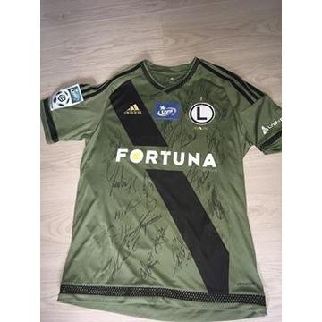 Koszulka meczowa Legia Lewczuk z autografami