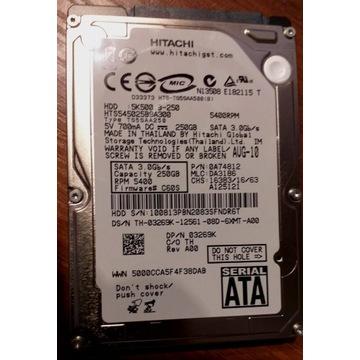Dysk twardy HDD Hitachi 250GB
