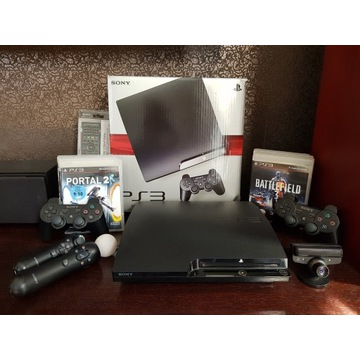 [HIT] PLAYSTATION 3 + 2 PADY + MOVE + 8 GIER