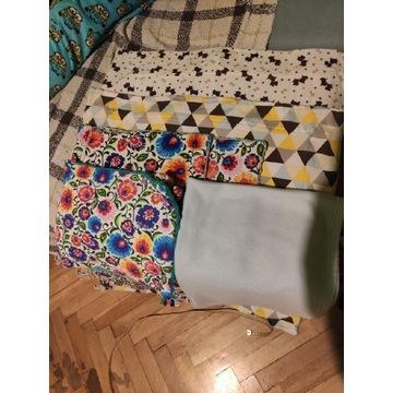 Miękkie kocyki niemowlęce - 5 sztuk, dwie poduszki