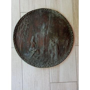 Plakieta Powstanie Listopadowe oryginał z brązu