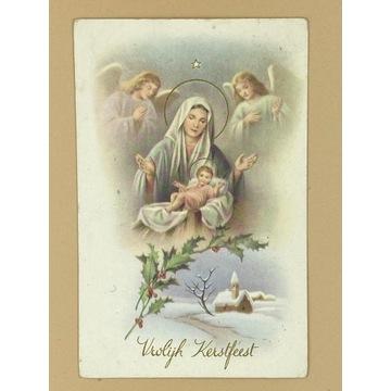 Pocztówka z Jezuskiem i Maryją