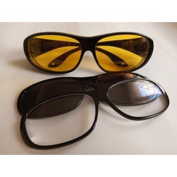 Okulary z wymiennymi szkłami + akcesoria