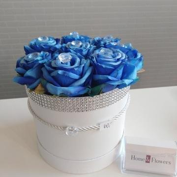 Flower Box róże sztuczne z kryształkami cena 60.00