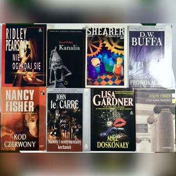 Thrillery - zestaw 8 mocnych thrillerów