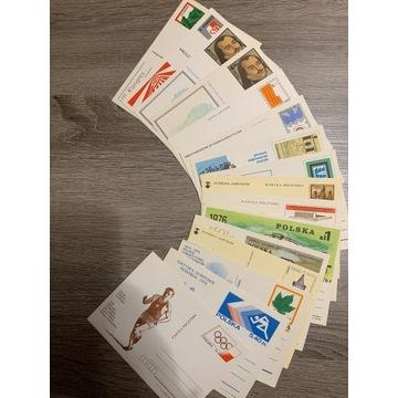 Karty pocztowe od 1976 do 1987 roku - 244 sztuk