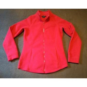 Czerwona damska sportowa bluza rozpinana XS polar