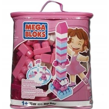 Mega Bloks klocki w torbie 70 elementów
