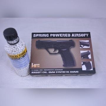 Pistolet airsoft 6mm na kulki + 3 000 szt.