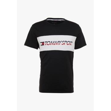 Tommy Sport LOGO - T-shirt z nadrukiem roz. XL