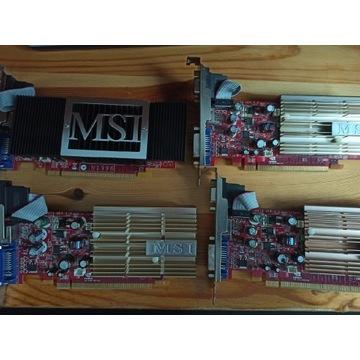 4 karty graficzne MSI NX8400GS.