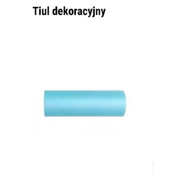 Tiul dekoracyjny niebieski 15cm×9m