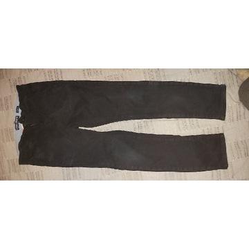 Czarne spodnie skinny stretch ideał H&M, 140