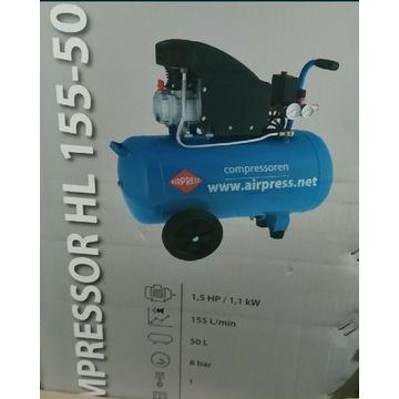 Kompresor 50l 230V max.8Bar 155L/min 1.1KW, nowy
