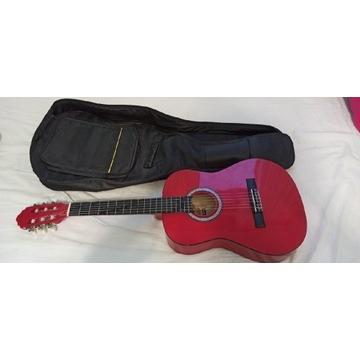 Gitara dziecięca Salvador 3/4 piękna różowa
