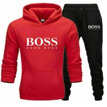 Hugo Boss dres męski bluza  z kapturem +spodnie XL