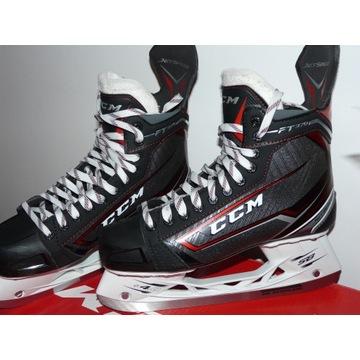 Łyżwy hokejowe rozmiar 44,5 (10) -2 razy na lodzie