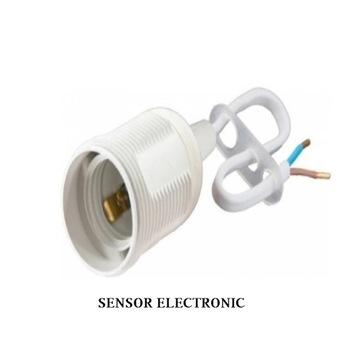 Oprawka termoplastyczna E-27-6 4A/250V Biała z pr