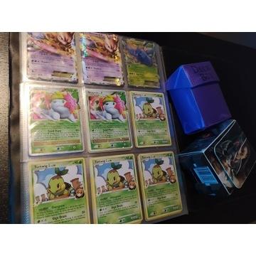 Kolekcja Kart POKEMON TCG + klaser i pudełka