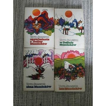 MUMINKI Tove Jansson zestaw 4 książek PRL