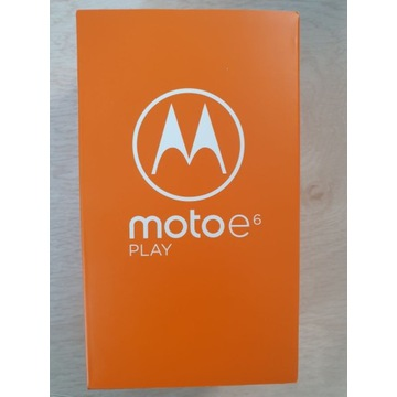 Motorola E6 Play (nowy/gwar24/plomba)