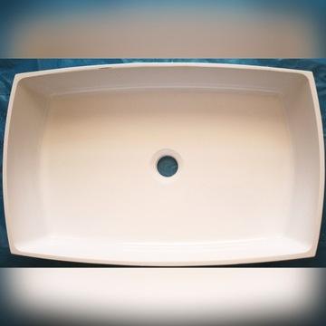 Umywalka nablatowa konglomerat 60x38