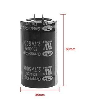 Wys.Polska 2.7V 500F SC superkondensator Nowe zap.