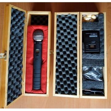 Mikrofonowy system bezprzewodowy oraz 5 dodatków