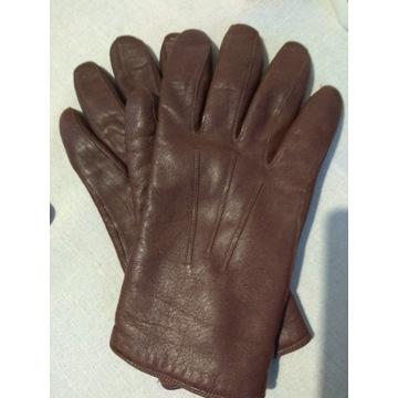 Rękawiczki skórzane damskie roz 8